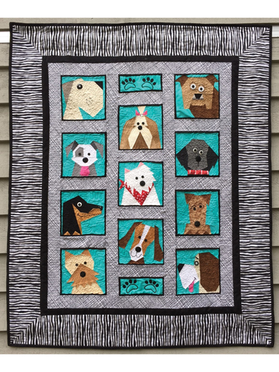 Dogs Only Quilt Pattern Adorable Dog Quilt Patterns