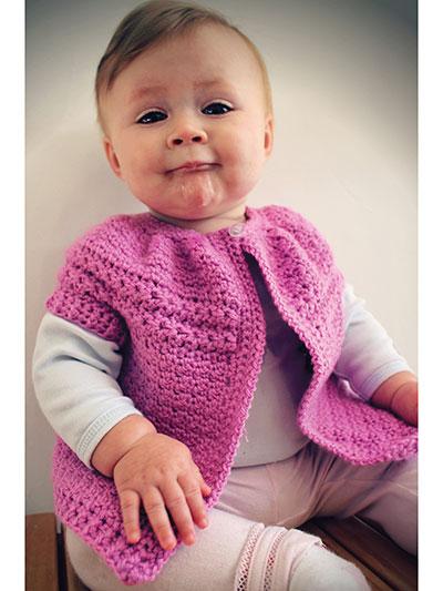 HRH Baby Cardigan Crochet Pattern
