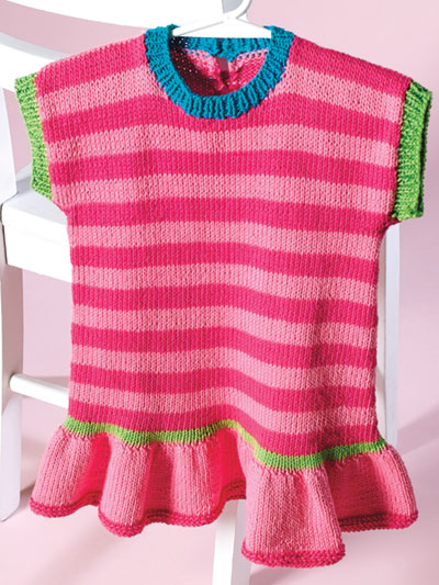 Cotton Candy Stripes Dress Knit Pattern