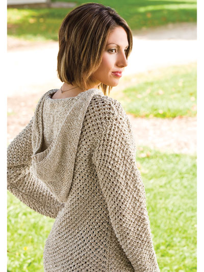 Top And Pullover Knitting Patterns Peace Of Mind Hoodie Knit Pattern