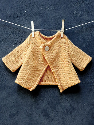 Snap Baby Cardigan Knit Pattern