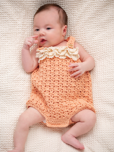 Zoey Romper Crochet Pattern for Baby