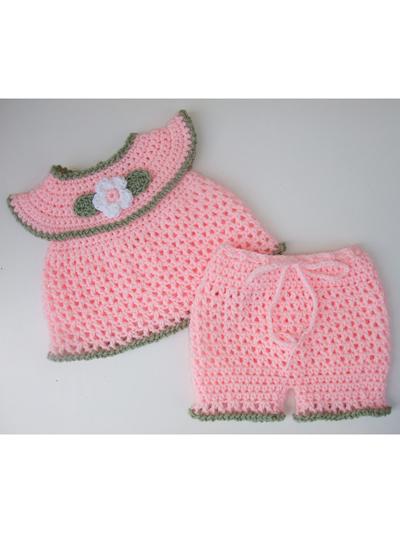 Baby Kids Crochet Clothing AnnaLise Baby Girl Set Crochet Pattern Mesmerizing Baby Girl Crochet Patterns