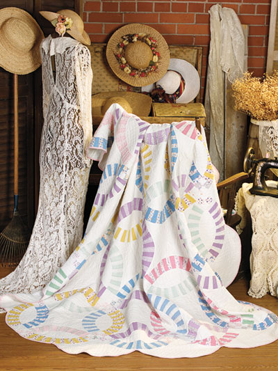 Bed Quilt Downloads Antique Double Wedding Ring Quilt Pattern