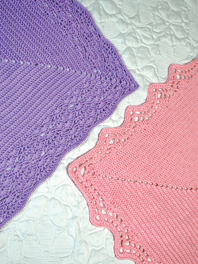 Baby Kids Crochet Blanket Patterns Lacy Edge Baby Blankets