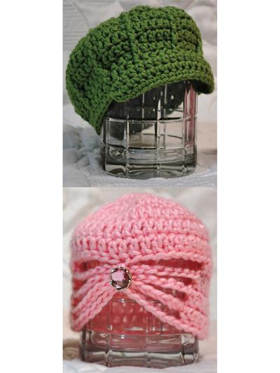 Crochet Baby Kids Downloads Precious Baby Hats Crochet Pattern