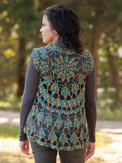 Crochet Cardigan Vest Patterns Annies Signature Designs Tulia