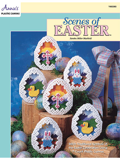 Scenes of Easter in Plastic canvas
