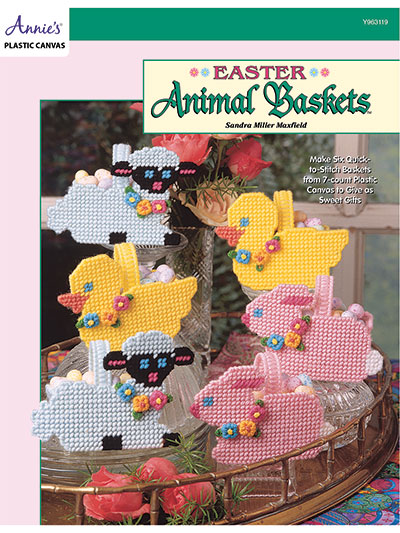 Easter Animals Baskets in plastic canvas patterns