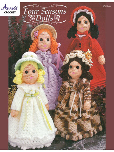 Crochet Patterns Out Of Print Patterns Four Seasons Dolls