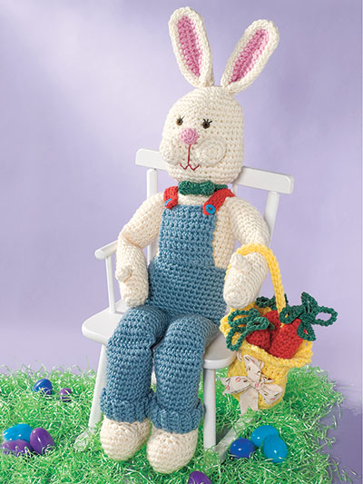 Rabbit and Basket Crochet Pattern