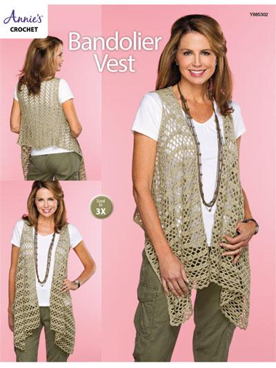 Crochet Cardigan Vest Patterns Bandolier Vest Crochet Pattern