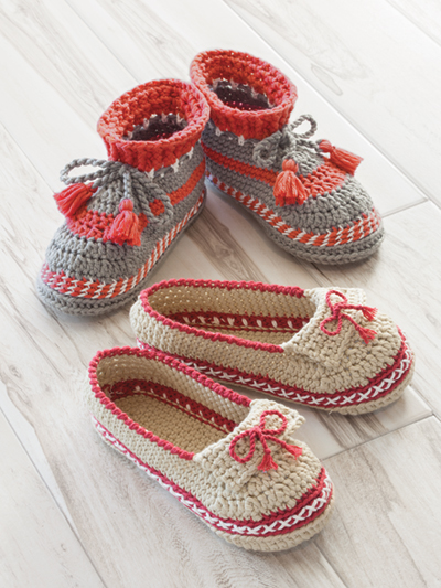 Crochet Slipper Patterns Annies Signature Designs Adult Moccasin