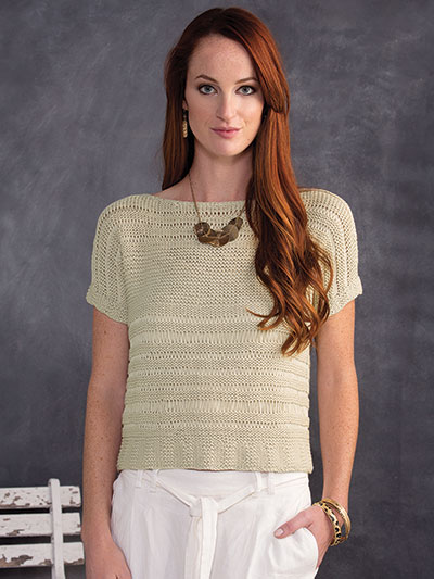New Knitting Patterns Delightful In Drop Stitch Tee Knit Pattern