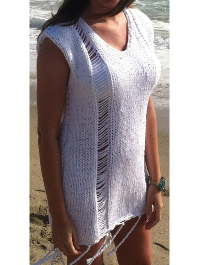 Adela Swim Suit Cover Up Knit Pattern