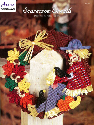 Scarecrow Wreath Plastic Canvas Pattern