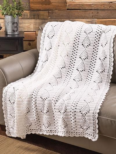 Crochet Afghan Downloads Pineapple Panels Throw Crochet Pattern