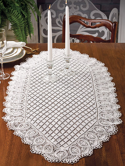 New Knitting Patterns Pineapple Diamonds Table Runner Knit Pattern