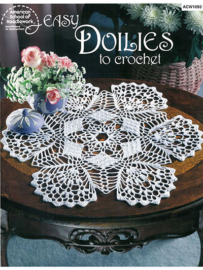 Crochet Doily Patterns Easy Doilies To Crochet Pattern Book