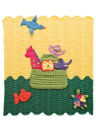 Noah's Ark Afghan Knitting Pattern