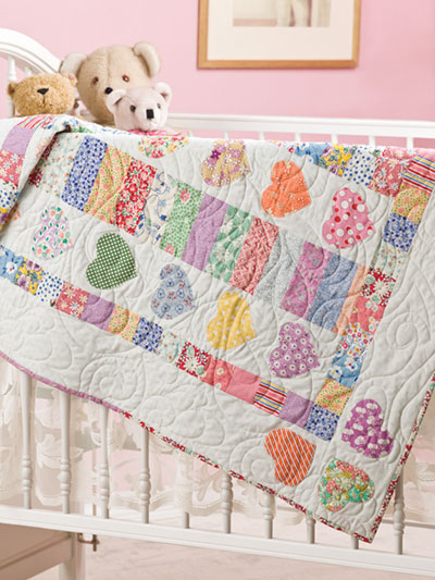Baby Quilt Patterns.New Quilt Patterns Hearts A Flutter Baby Quilt Pattern