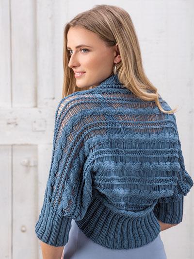 Knit Summer Skies Shrug Knit Pattern Ak01048
