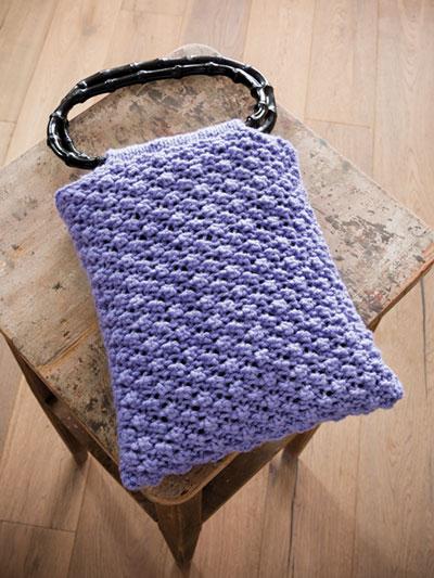 Raspberry Stitch Loom Knitted Bag