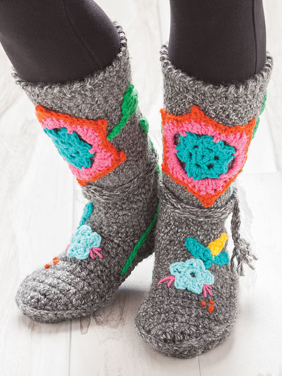 New Crochet Patterns Annies Signature Designs Patchwork Booties