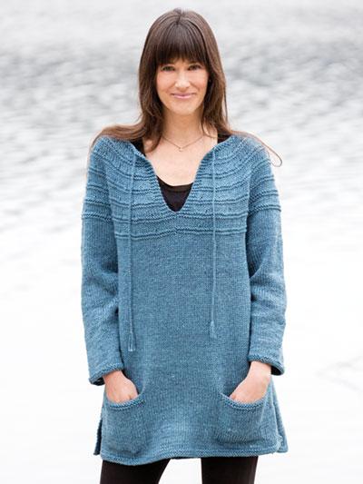 Knitting Patterns Supplies Lenas Top Down Sweater Knit Pattern