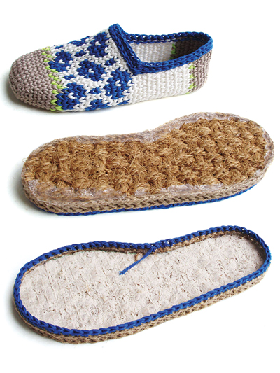Learn How to Crochet a Pair of Slippers that you can wear outside
