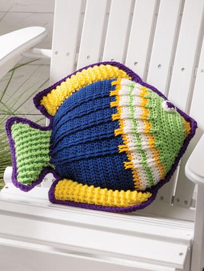 Crochet Patterns Something Fishy Pillow Crochet Pattern