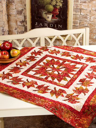 Autumn Quilt Patterns Twirling The Bear Table Topper Pattern