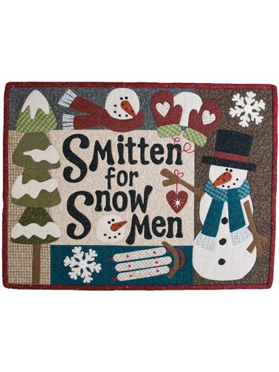 Christmas Winter Quilt Patterns Smitten For Snowmen Quilt Pattern