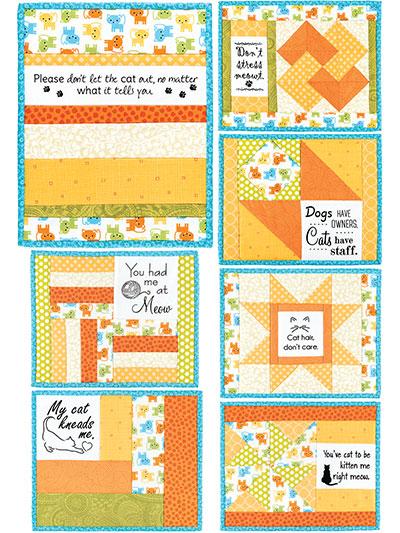 inspirational mug mats pattern daily meows panel