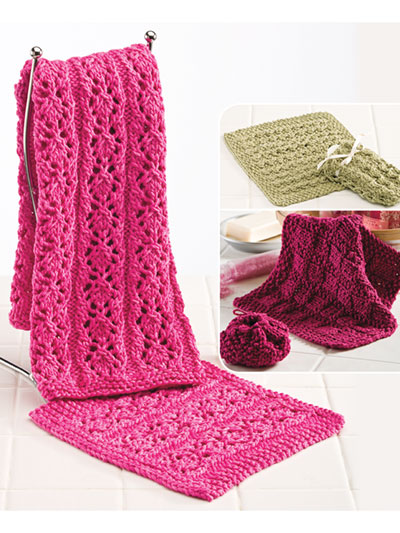 Quick and Easy Bathroom sets to Knit
