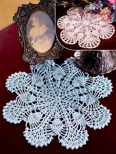Crochet Doily Patterns Pineapple Fans Crochet Pattern