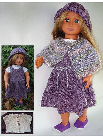 Knit Doll Clothes Shoes Belle Plum 18 Doll Clothes