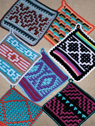 Native American Crochet Potholders