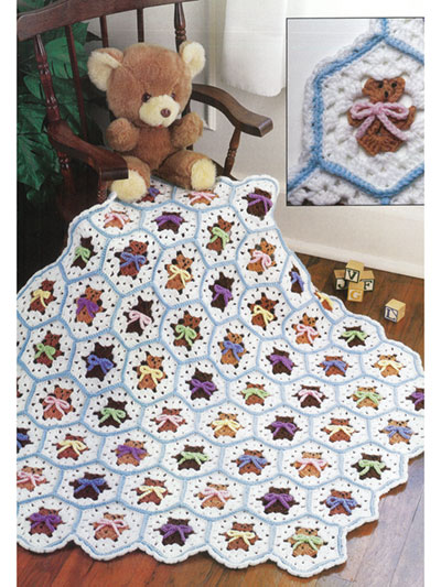 Easy to Crochet Bear Blocks Afghan Pattern