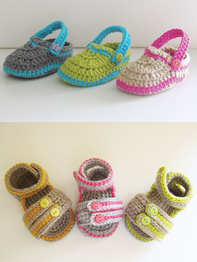 Crochet Baby Booties Patterns - Crochet Baby Socks Patterns - Page 1