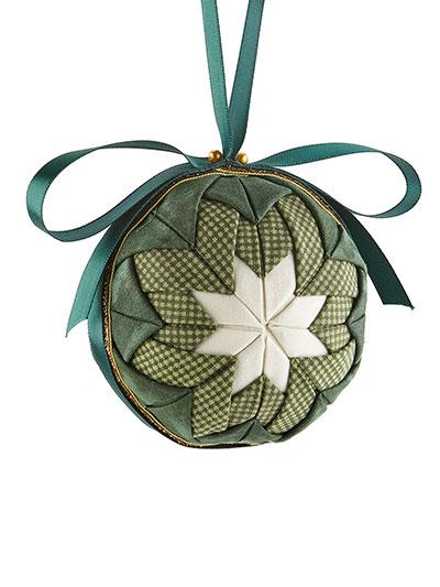 Ornament Sewing Patterns - Heirloom Ball No-Sew Ornament Green Kit