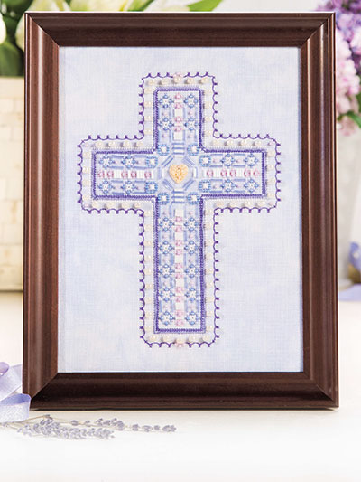 Beaded Cross Cross Stitch Pattern