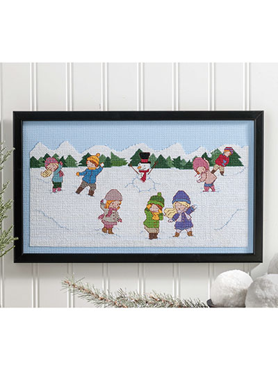 Snowball Fights Cross Stitch Pattern
