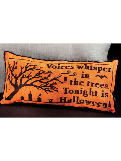 Halloween Cross stitch pillow