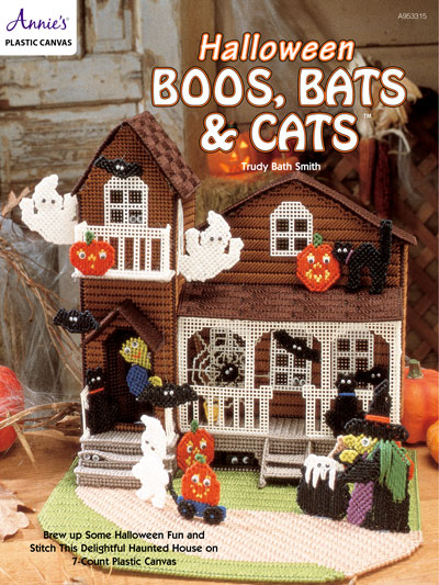 Halloween Boos, Bats and Cats Plastic Canvas Patterns