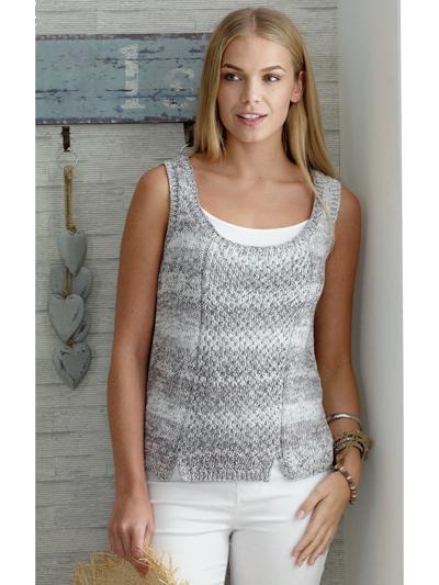 New Knitting Patterns 4458 Ladies Top Tank Knit Pattern