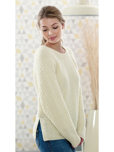 New Knitting Patterns 4815 Ladies Sweater Cardigan Knit Pattern