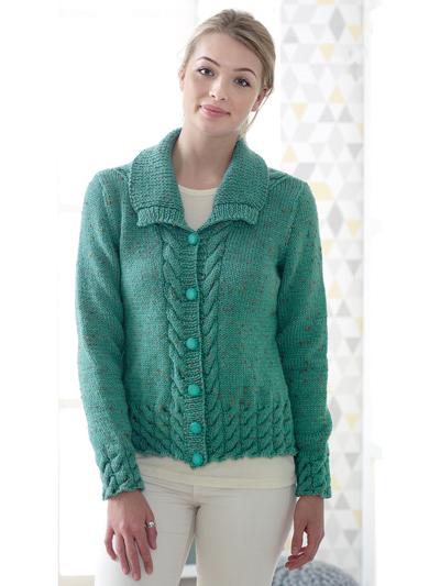 New Knitting Patterns 4818 Ladies Jacket Waistcoat Knit Pattern