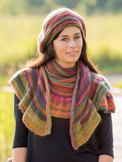 ANNIE'S SIGNATURE DESIGNS: Moonbow Beret & Shawl Crochet Pattern