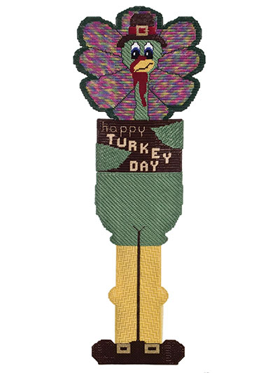 Happy Turkey Day Tom Turkey Plastic Canvas Pattern